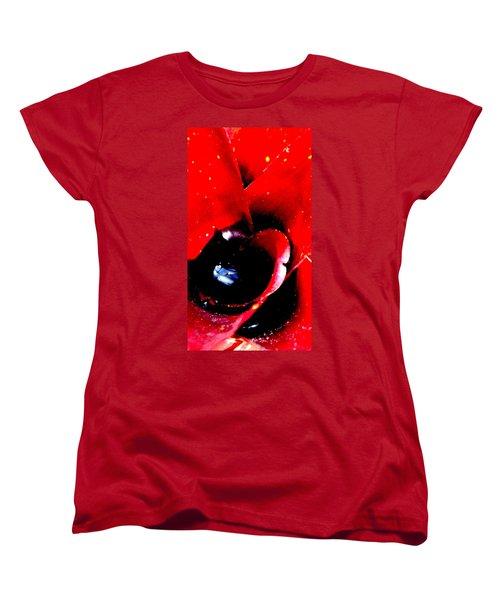 Devilish Eye Of The Bromeliad Women's T-Shirt (Standard Cut) by Antonia Citrino