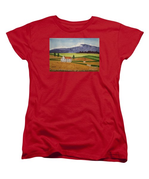 Women's T-Shirt (Standard Cut) featuring the painting Distant Hills by John Williams