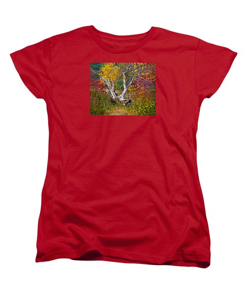 Women's T-Shirt (Standard Cut) featuring the digital art Dog Tree by Mary Almond