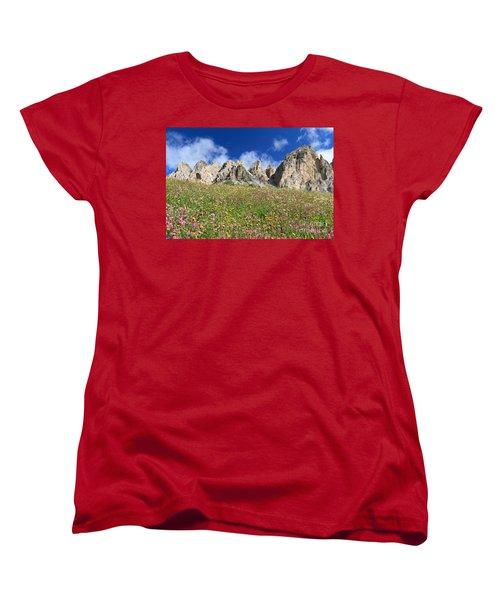 Women's T-Shirt (Standard Cut) featuring the photograph Dolomiti - Flowered Meadow  by Antonio Scarpi