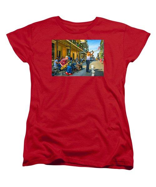 Doreen's Jazz New Orleans - Paint Women's T-Shirt (Standard Cut) by Steve Harrington