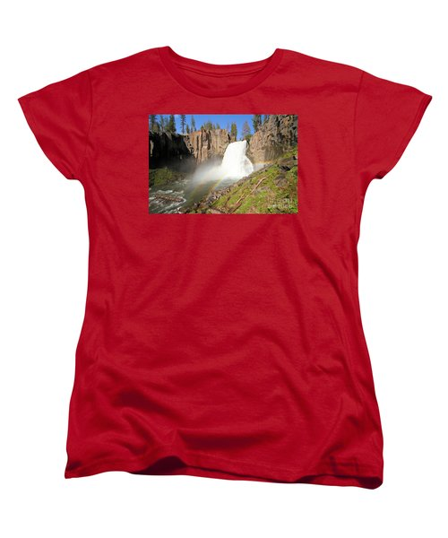 Double Rainbow Falls Women's T-Shirt (Standard Cut) by Adam Jewell