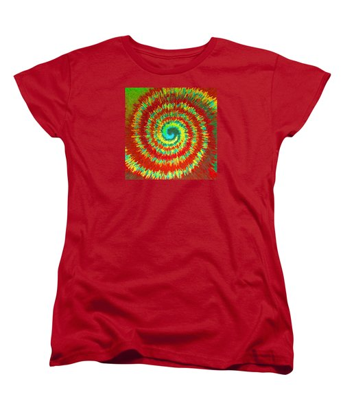 Women's T-Shirt (Standard Cut) featuring the painting Double Spiral  C2014 by Paul Ashby