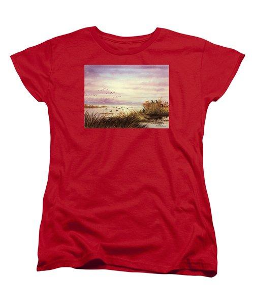 Duck Hunting Companions Women's T-Shirt (Standard Cut) by Bill Holkham