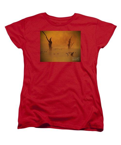 Duck Pond Women's T-Shirt (Standard Cut) by Elizabeth Winter