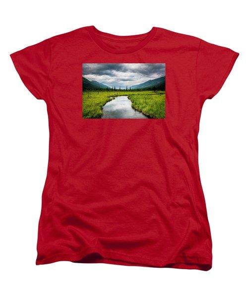 Eagle River Nature Center Women's T-Shirt (Standard Cut) by Andrew Matwijec