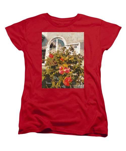 Women's T-Shirt (Standard Cut) featuring the photograph Alameda Roses by Linda Weinstock