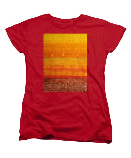 Earth And Sky Original Painting Women's T-Shirt (Standard Cut) by Sol Luckman