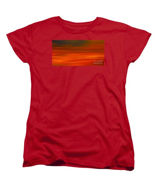 Women's T-Shirt (Standard Cut) featuring the digital art Abstract Earth Motion Sun Burnt by Linsey Williams