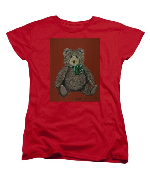 Women's T-Shirt (Standard Cut) featuring the painting Easton's Teddy by Jennifer Lake