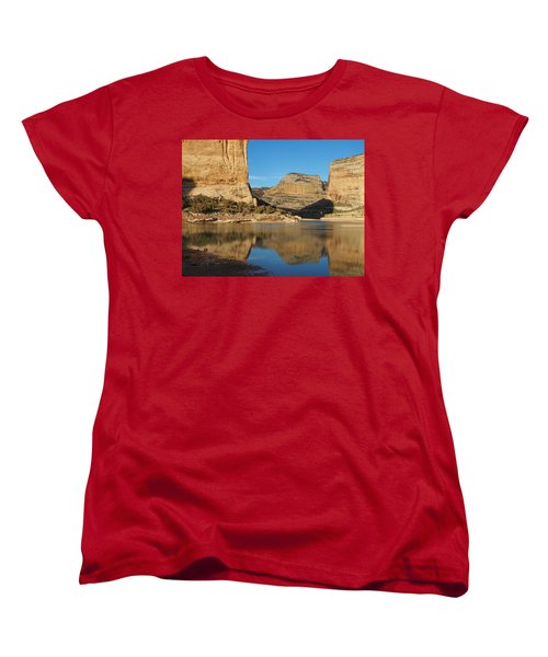 Echo Park In Dinosaur National Monument Women's T-Shirt (Standard Cut) by Nadja Rider