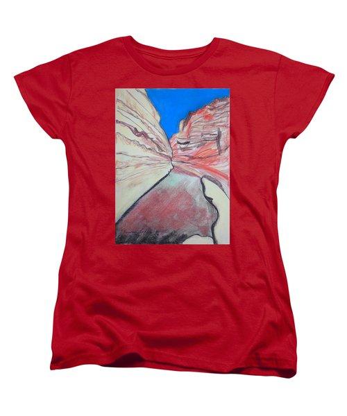 Women's T-Shirt (Standard Cut) featuring the drawing Ein Avdat  by Esther Newman-Cohen