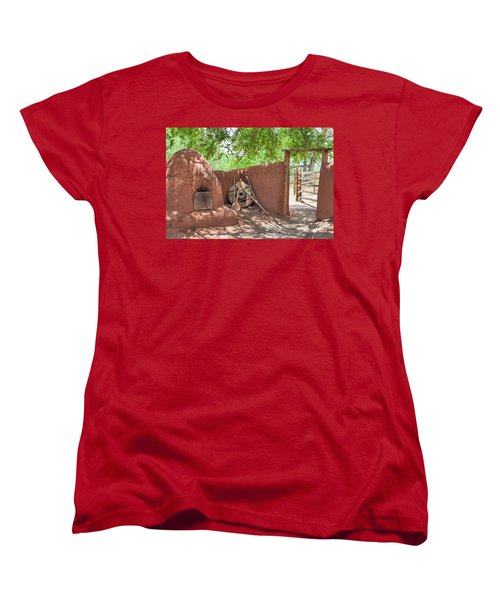 Women's T-Shirt (Standard Cut) featuring the photograph El Rancho De Las Golondrinas by Roselynne Broussard
