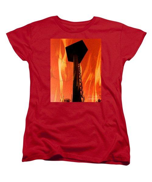Women's T-Shirt (Standard Cut) featuring the photograph Elastic Concrete Part Two by Sir Josef - Social Critic - ART