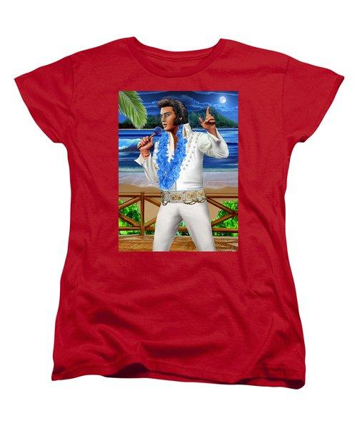 Elvis The Legend Women's T-Shirt (Standard Cut) by Glenn Holbrook