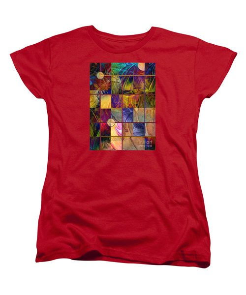Women's T-Shirt (Standard Cut) featuring the painting Emotive Tapestry by Allison Ashton