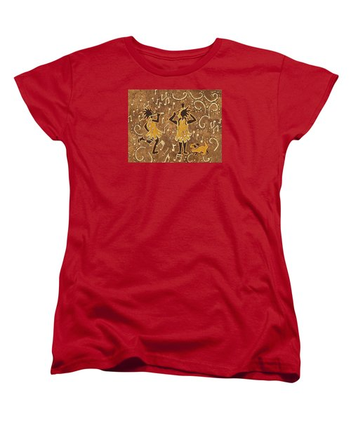 Enjoying The Music Women's T-Shirt (Standard Cut) by Katherine Young-Beck