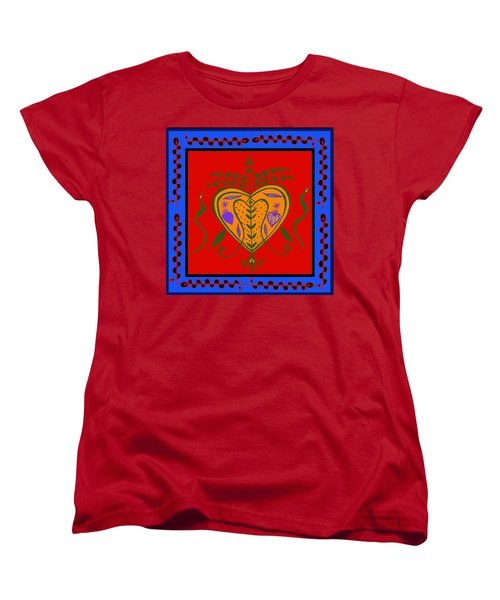 Women's T-Shirt (Standard Cut) featuring the digital art Erzulie Freda by Vagabond Folk Art - Virginia Vivier