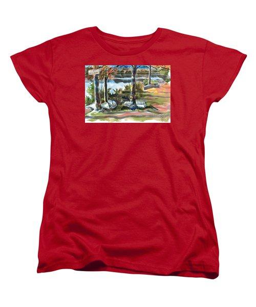 Evening Shadows At Shepherd Mountain Lake  No W101 Women's T-Shirt (Standard Cut) by Kip DeVore