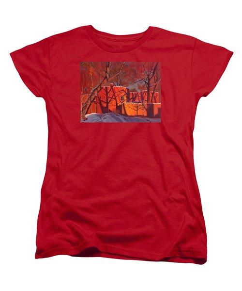 Evening Shadows On A Round Taos House Women's T-Shirt (Standard Cut)