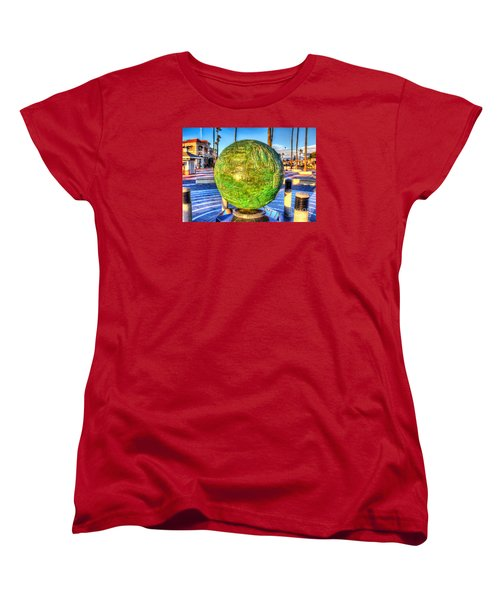 Women's T-Shirt (Standard Cut) featuring the photograph Everyone Is Welcome At The Beach by Jim Carrell