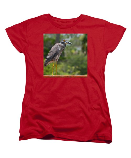 Women's T-Shirt (Standard Cut) featuring the photograph Eye To Lens by DigiArt Diaries by Vicky B Fuller