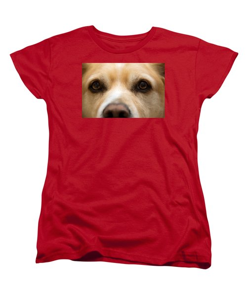 Women's T-Shirt (Standard Cut) featuring the photograph Eyes Of Friendship  by Aaron Berg