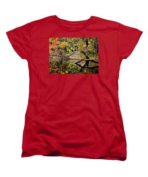Fall From The Water Women's T-Shirt (Standard Cut) by Holly Blunkall