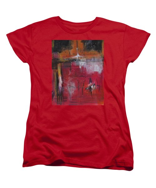 Women's T-Shirt (Standard Cut) featuring the painting Fall by Nicole Nadeau