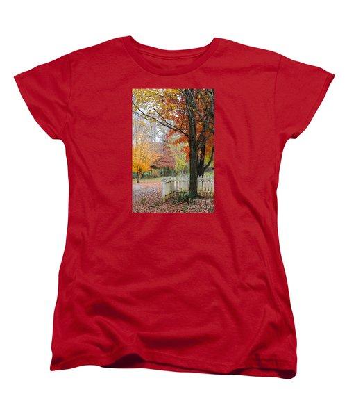 Fall Tranquility Women's T-Shirt (Standard Cut) by Debbie Green