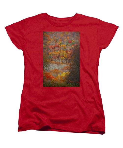 Women's T-Shirt (Standard Cut) featuring the photograph Fall Tunnel by Raymond Salani III