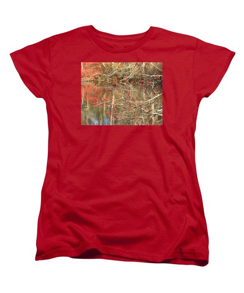 Women's T-Shirt (Standard Cut) featuring the photograph Fall Upon The Water by Bruce Carpenter