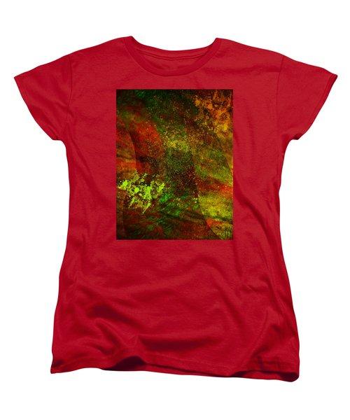 Women's T-Shirt (Standard Cut) featuring the mixed media Fallen Seasons by Ally  White