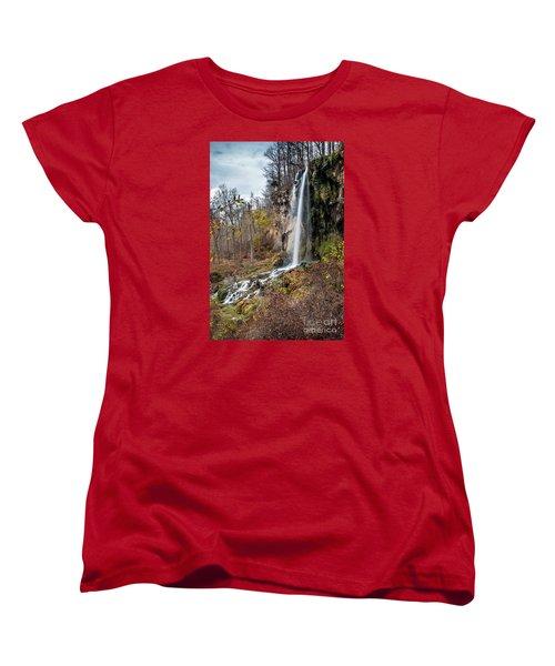 Falling Springs Fall Women's T-Shirt (Standard Cut) by Debbie Green