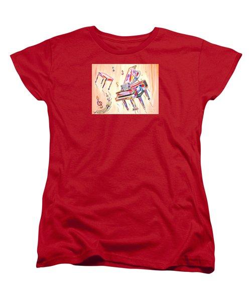 Fantasy Impromptu Women's T-Shirt (Standard Cut) by Phyllis Kaltenbach
