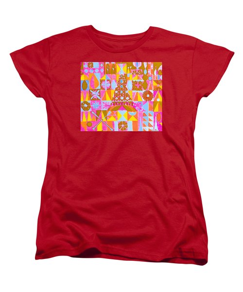 Women's T-Shirt (Standard Cut) featuring the painting Fantasy In Form by Beth Saffer