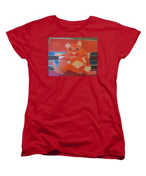 Fat Cat On A Hot Chaise Lounge Women's T-Shirt (Standard Cut) by Richard W Linford
