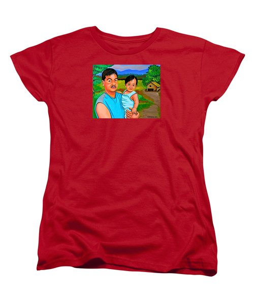 Father And Son Women's T-Shirt (Standard Cut) by Cyril Maza