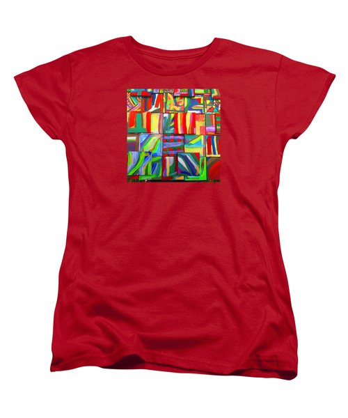 Women's T-Shirt (Standard Cut) featuring the painting Feast Of Minis 03 by Mudiama Kammoh