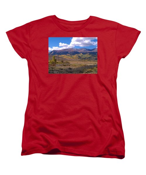 Women's T-Shirt (Standard Cut) featuring the photograph Fenced Nature by Fortunate Findings Shirley Dickerson