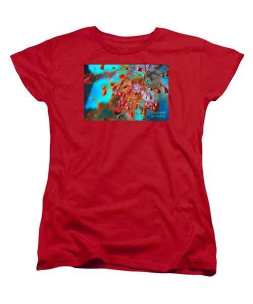 Fiery Red Clusters - Illawarra Flame Tree Women's T-Shirt (Standard Cut)