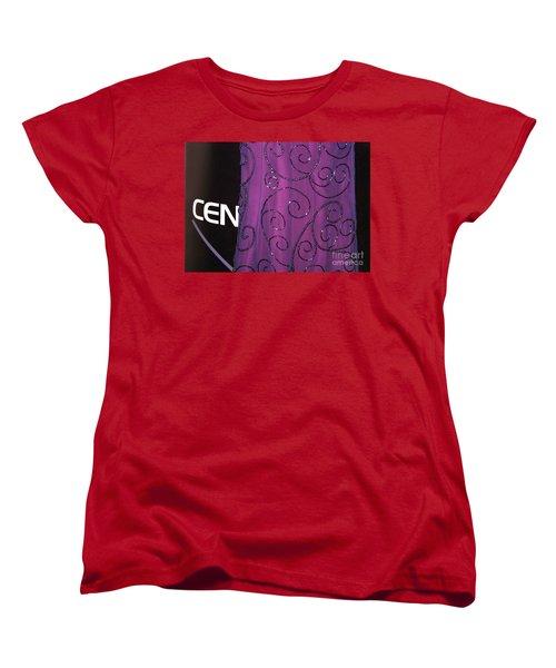 Fighting Sequins Horizontal Women's T-Shirt (Standard Cut) by Heather Kirk