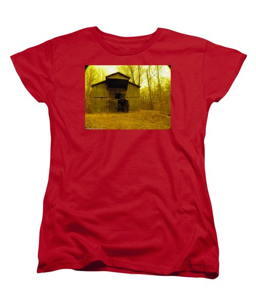 Women's T-Shirt (Standard Cut) featuring the photograph Filtered Barn by Nick Kirby