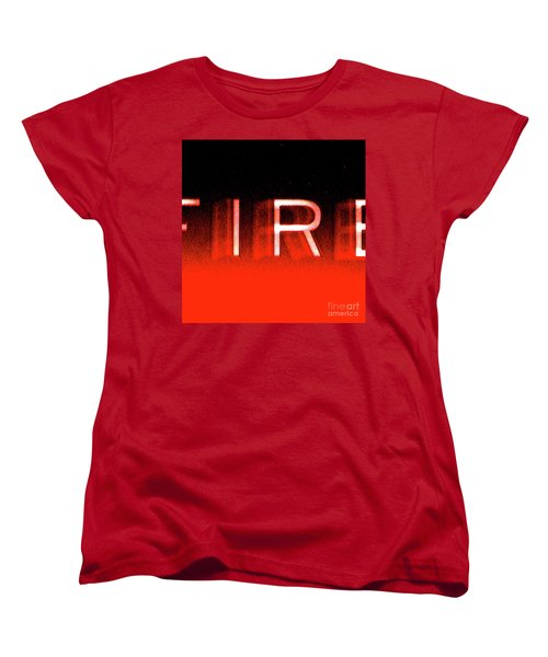 Fire Women's T-Shirt (Standard Cut) by CML Brown