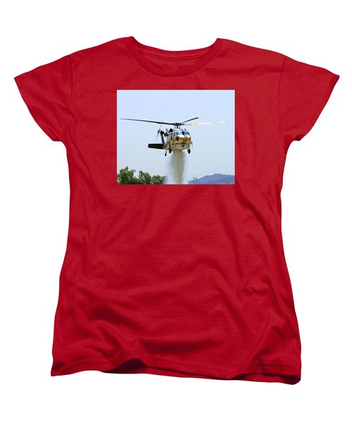 Fire Hawk Water Drop Women's T-Shirt (Standard Cut) by Shoal Hollingsworth