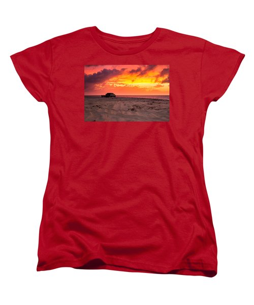 Fire In The Sky Women's T-Shirt (Standard Cut) by Brian Caldwell