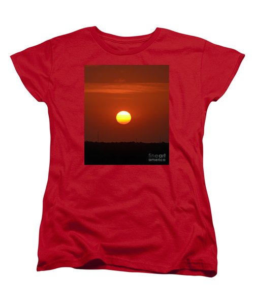 Women's T-Shirt (Standard Cut) featuring the photograph Fire In The Sky by Kerri Farley