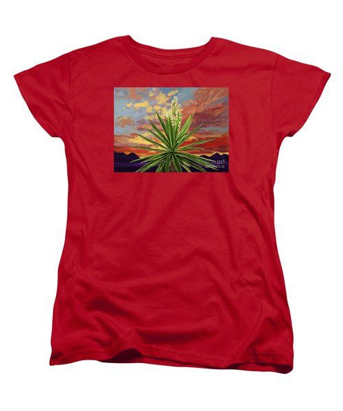 Fire Sky Desert Blooming Yucca Women's T-Shirt (Standard Cut)