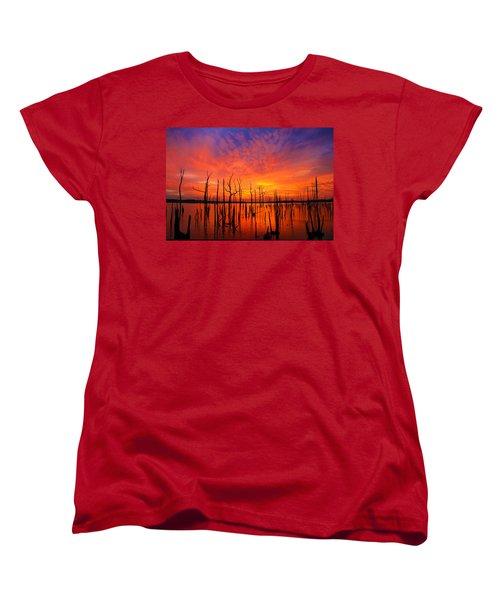 Fired Up Morn Women's T-Shirt (Standard Cut) by Roger Becker
