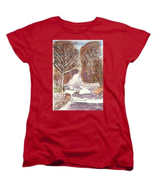First Footprints Women's T-Shirt (Standard Cut) by Tracey Williams